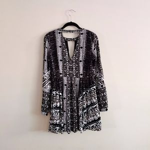Free People Black White Summer Dress